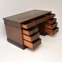 Antique Victorian  Mahogany Pedestal Desk (7 of 12)