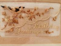 Early 20th century embroidered silk greetings cards (4 of 16)