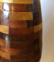 Large Vintage Wooden Segment Table Lamp (6 of 6)