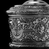 Rare Antique Solid Silver Cellini Tea Caddy Box - Mappin & Webb 1902 (22 of 28)