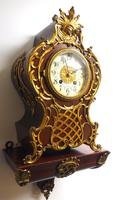 Wow! Phenomenal French Boulle Mantel Clock on Original Bracket 8 Day Mantle Clock (4 of 7)