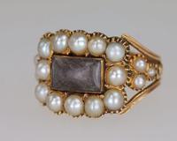 Georgian 15ct Gold Pearl Antique Memorial English Ring c.1800 (19 of 20)