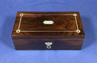 William IV Rosewood Glove Box  With Inlay (4 of 12)