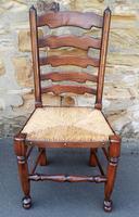 Set of 12 Oak Ladder Back Dining Chairs - Royal Oak Furniture (4 of 15)