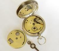 Antique Silver Pocket Watch for Gittus of London (3 of 6)