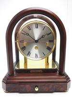 Wow! Franz Hermle & Sohne Musical Bell Chiming Mahogany & Glass Mantel Clock (8 of 13)