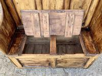 Antique Pine Panelled Box Settle (10 of 16)