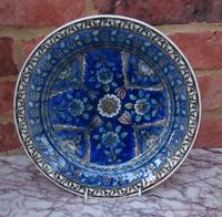 Persian Ceramic Shallow Dish, Qajar Dynasty Iran, 19th Century (8 of 8)
