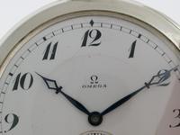 Silver 0.900 Omega Open Face Pocket Watch Swiss 1916 (2 of 7)