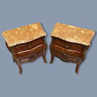 Pair of Italian Parquetry Bedside Commodes (4 of 8)