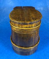 19th Century Beech & Pine Treen Tankard (7 of 11)