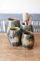 Scottish Pottery Slipware Barrel Storage Jars x4 (27 of 35)