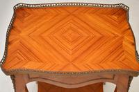 Antique French King Wood Side Table (4 of 9)