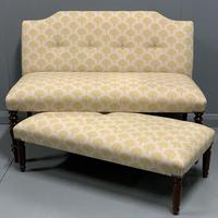 Regency window seat and matching stool (9 of 9)