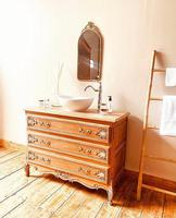 French Antique Style Washstand / Vanity / with Basin Sink (4 of 8)