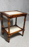 Two Tier Marble Table