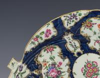 Large First Period Worcester Porcelain Blue Scale Leaf Dish c.1770 (4 of 8)