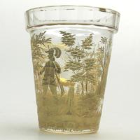 An Extremely Rare & Exceptional St Hubert Gilt Glass Beaker C.18th/early 19thc