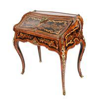 19thc Louis XV Style Marquetry Bureau en Pente (11 of 14)