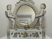 Pair of Small Dresden Victorian Style Porcelain Cherub Table Mirrors (42 of 60)
