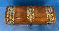 Victorian Brassbound Burr Walnut Glove Box (2 of 9)
