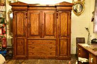 Antique William IV Mahogany 4 Door Wardrobe (4 of 5)