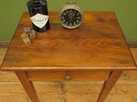 Small Antique Pine Table with Drawer, Very Small Desk (12 of 13)