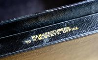 George V John Peck Black Morocco Leather Despatch Box (10 of 12)