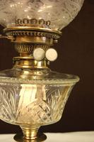 Antique Victorian Oil Lamp & Shade (7 of 12)