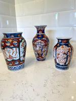 Three Antique Imari Vases