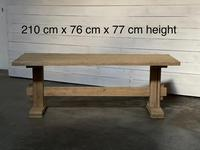 Primitive French Bleached Oak Farmhouse Dining Table (7 of 20)