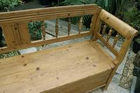 Lovely Old Victorian Hungarian Box/ Storage/ Hall Bench (5 of 12)