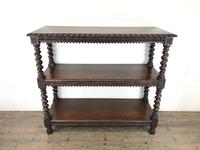 Antique Victorian Carved Oak Three Tier Display Shelves (3 of 10)