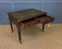 Victorian Mahogany 2 Drawer Reeded Leg Writing Table (15 of 15)