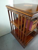 Fine Edwardian Revolving Bookcase (4 of 9)