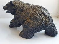 Large Detailed Vintage Bronze Grizzly Bear c1940s (6 of 10)