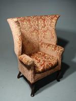 Fine & Well Shaped Late 19th Century Mahogany Framed Wing Chair (2 of 4)