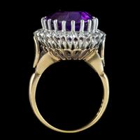 Vintage Amethyst Diamond Cocktail Ring 18ct Gold 12ct Amethyst Circa 1980 (8 of 8)