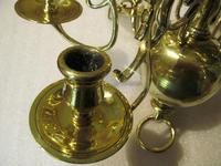 A Dutch Style 6 Branch Brass Ball Chandelier (2 of 4)
