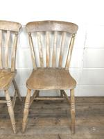 Set of Four Antique Farmhouse Kitchen Chairs (7 of 15)