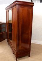 French Triple Wardrobe 19th Century Mahogany Mirrored (9 of 12)