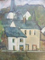 Oil on Canvas Laid on Board by the River Loire Listed Artist John Denahy (6 of 10)