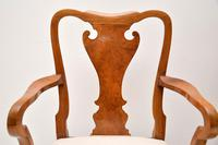 Pair of Antique Walnut Queen Anne Style Carver Armchairs (8 of 10)