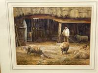 "Watercolour ""Tending The Sheep"" By Bertha Rhodes RA Rca Exh 1905 -1912 (8 of 41)"