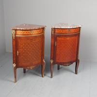 Matched Pair of French Inlaid Corner Cabinets (2 of 18)