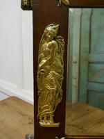 Large Napoleon III French Brass and Fruitwood Mirror (3 of 7)