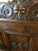 Victorian Antique Green Man Carved Oak Settle / Hall Seat / Monks Bench (4 of 10)