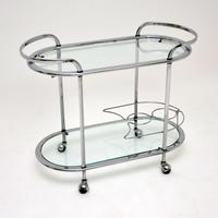 1960's Vintage French Chrome Drinks Trolley