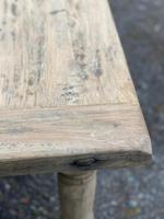 Rustic Bleached Oak French Farmhouse Dining Table (26 of 34)