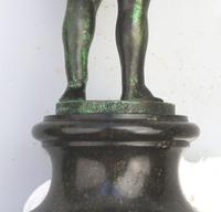 Very Fine Bronze Sculpture of Child With Devil Mask 19th Century (6 of 6)